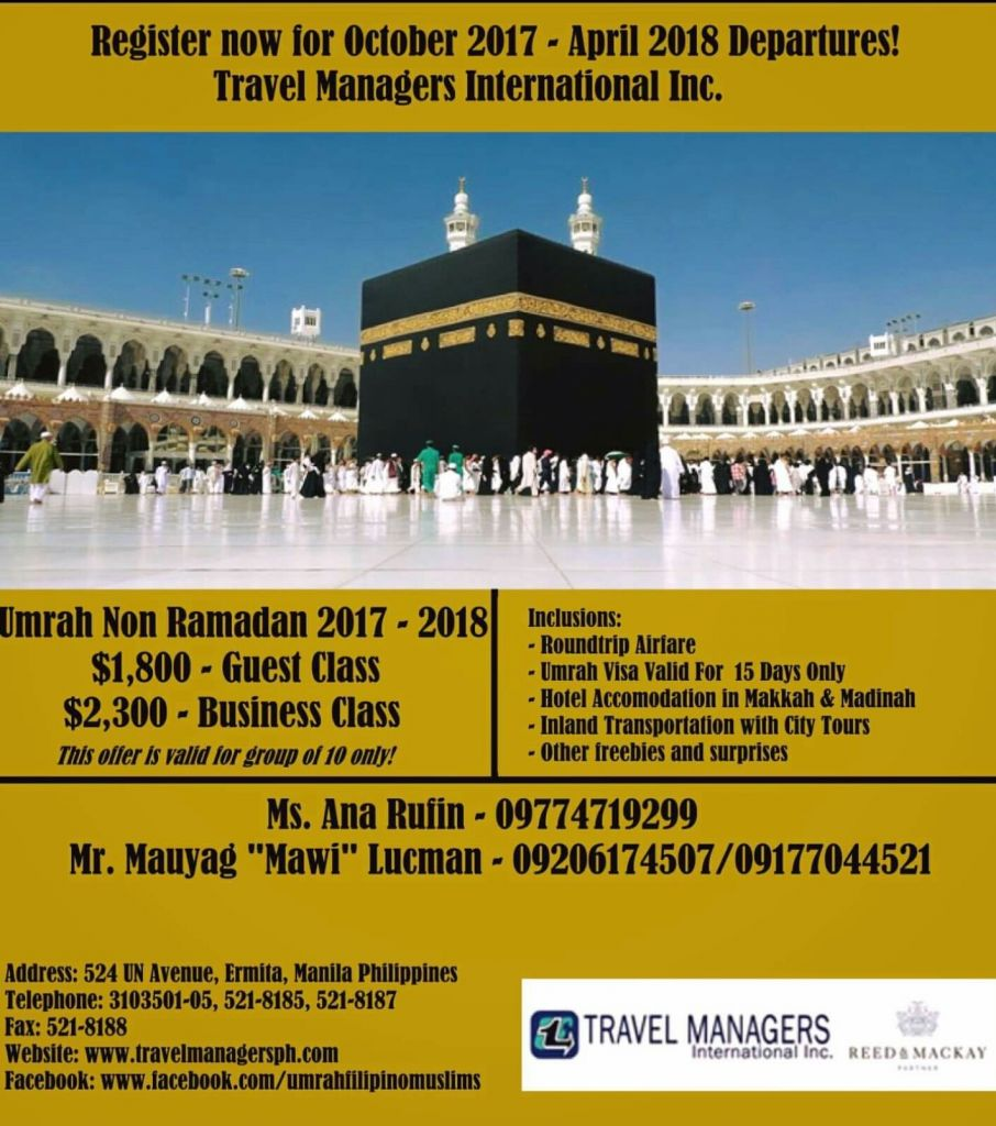 Umrah Banner: Travel Managers International, Inc